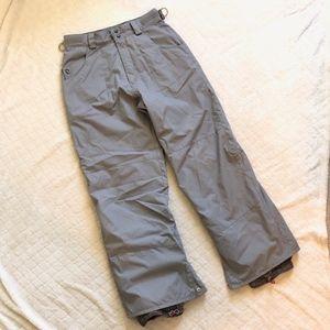 K2 Outerwear Pants - K2 Outerwear gray snowboard pants/ S